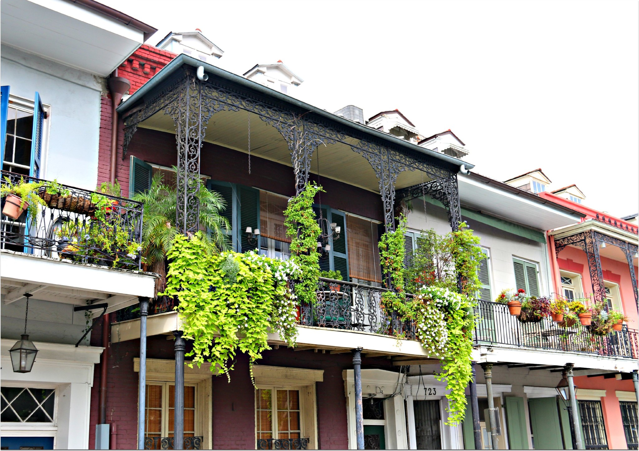 Hanging Balconies in French Quarter