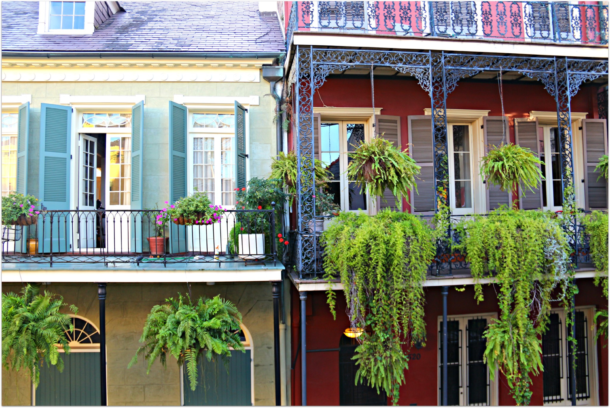 Balconies and Gallery in New Orleans French Quarter Condos