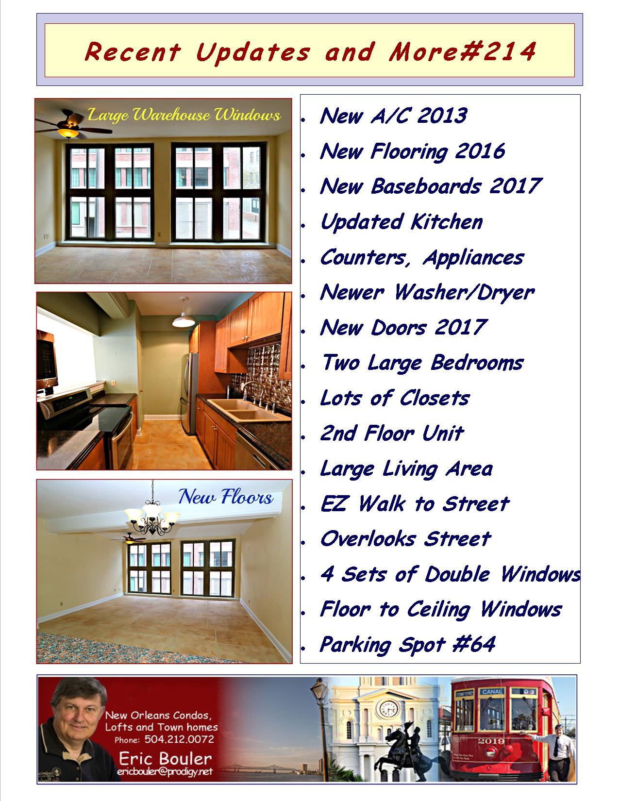 New Olreans Condos, A List of Updates