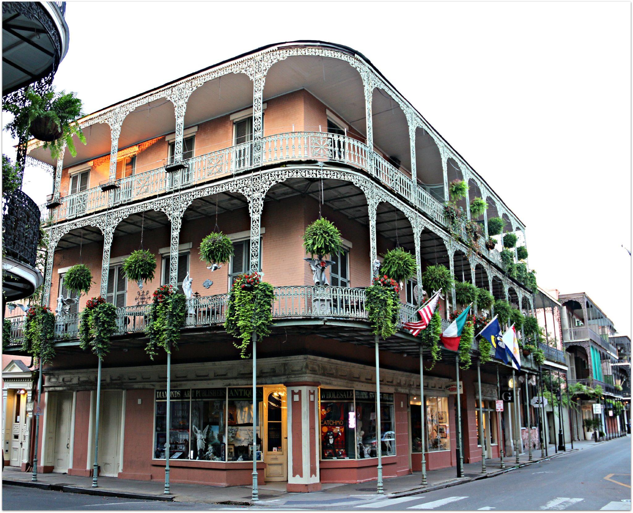 Royal Street Corners in New Orleans