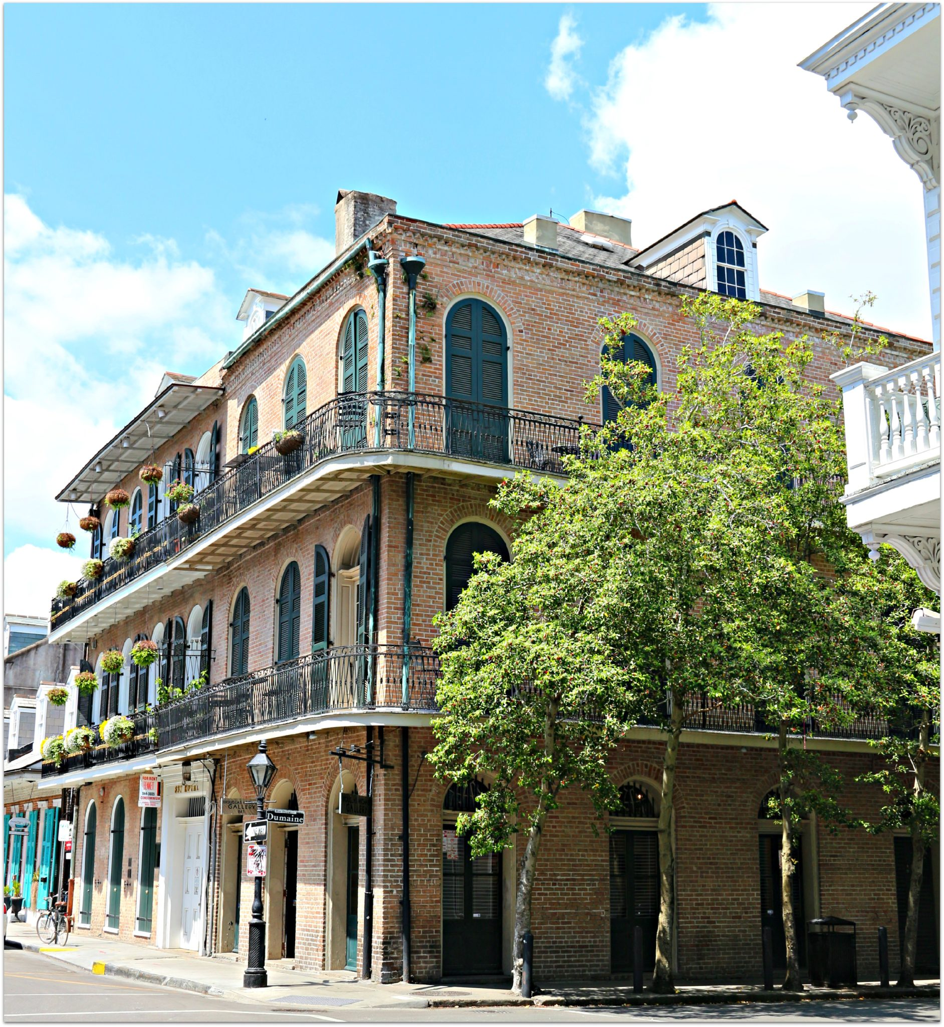 Condos on Royal Street in New Orleans