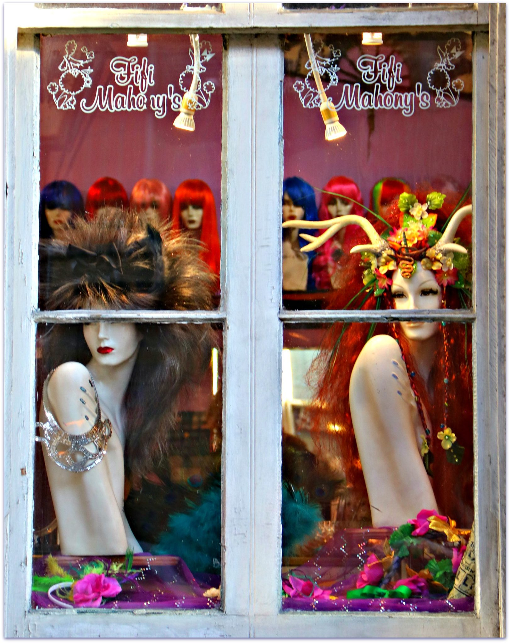 Window shopping on Royal Street in French Quarter
