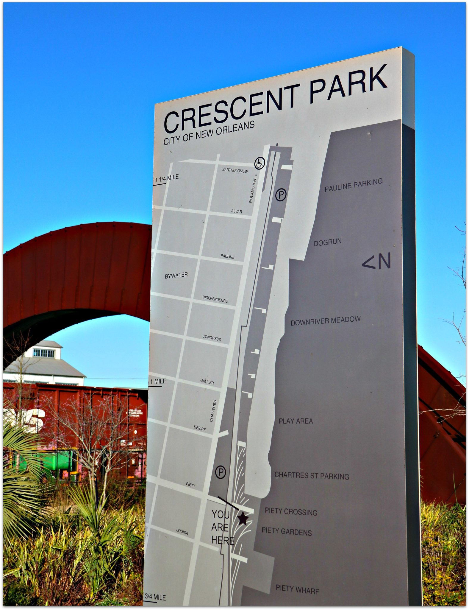 Map of the Crescent Park in Bywater