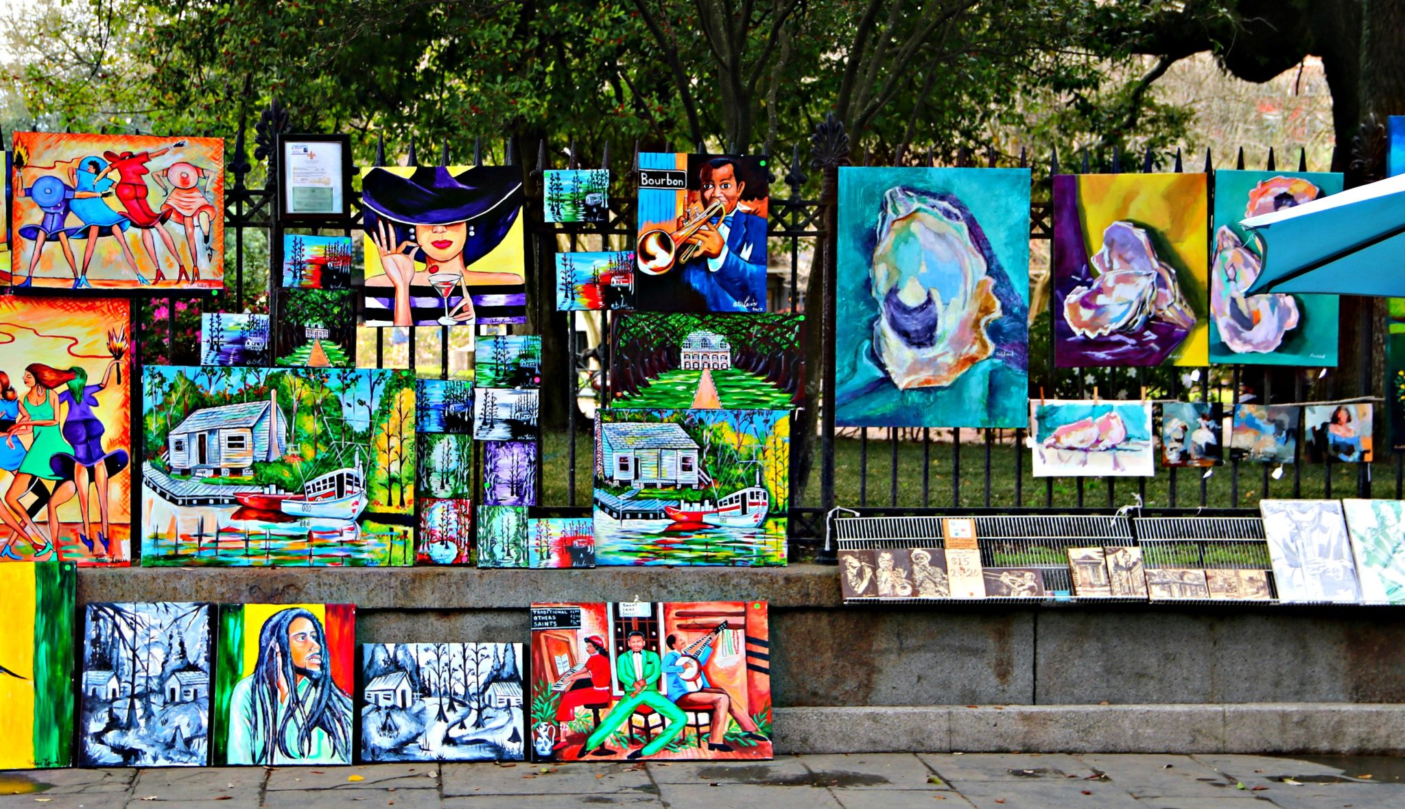 Jackson Square Artist selling their work