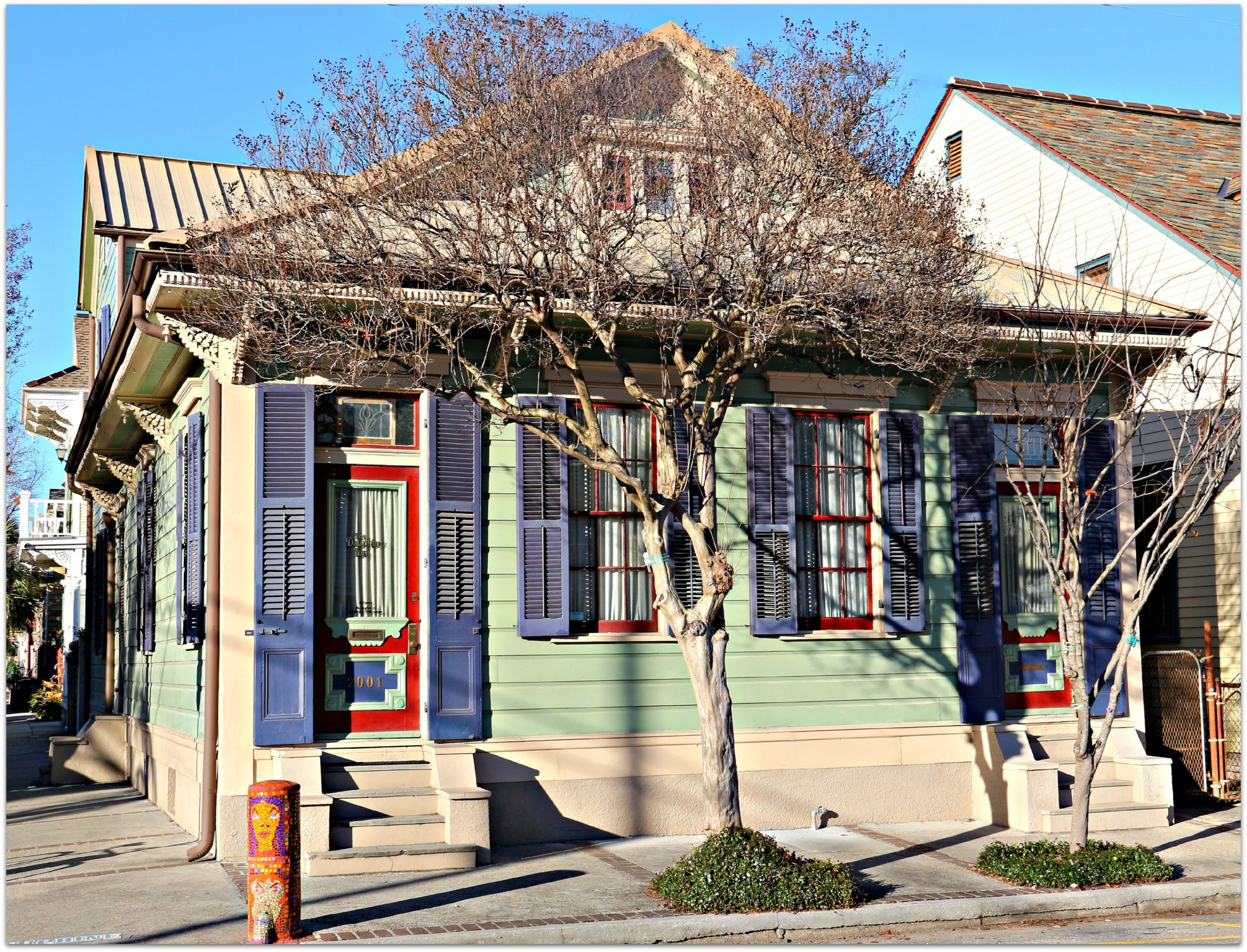 Colorful Marigny Homes in New Orleans