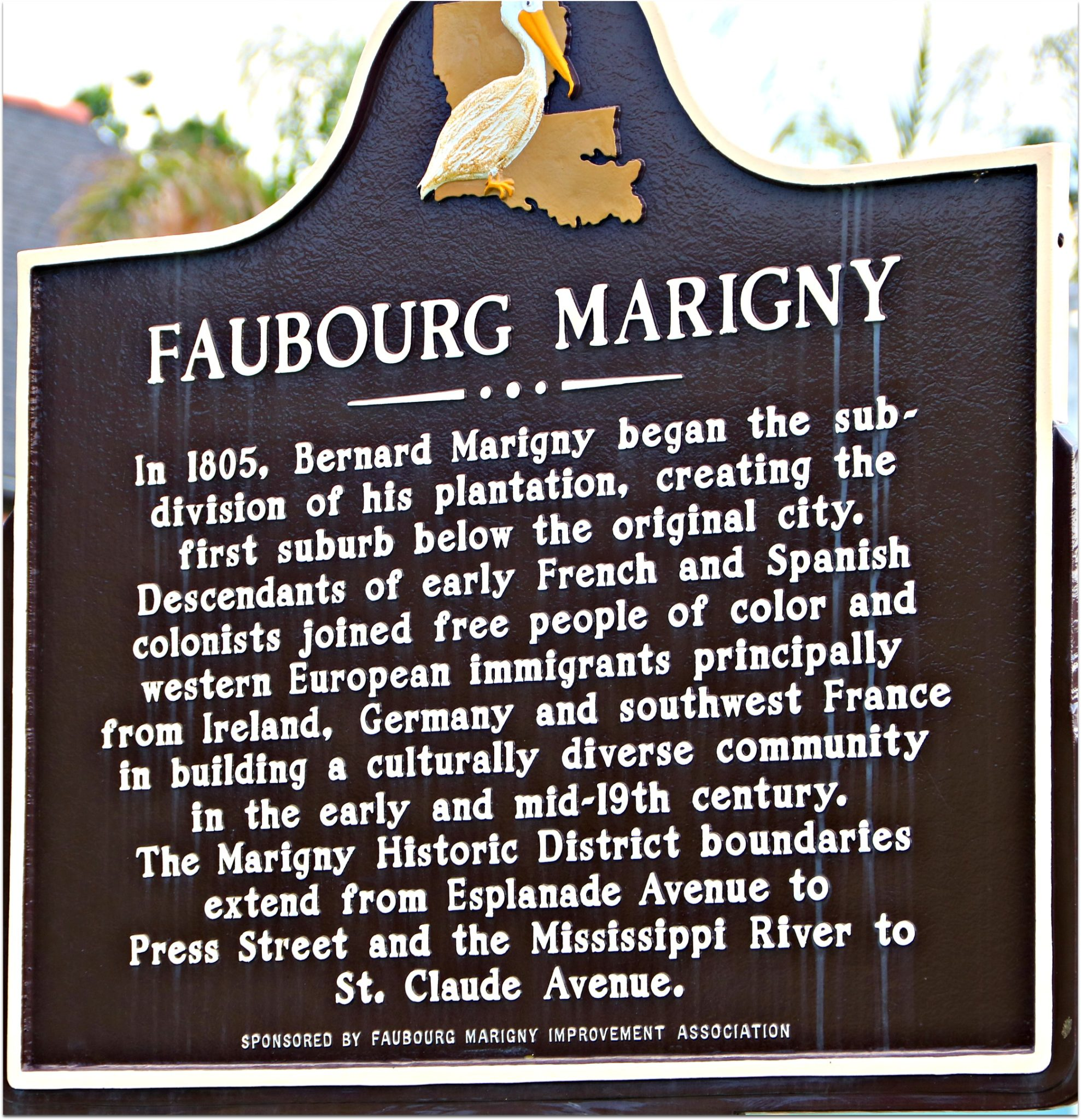 Faubourg Marigny Neighborhood in New Olreans