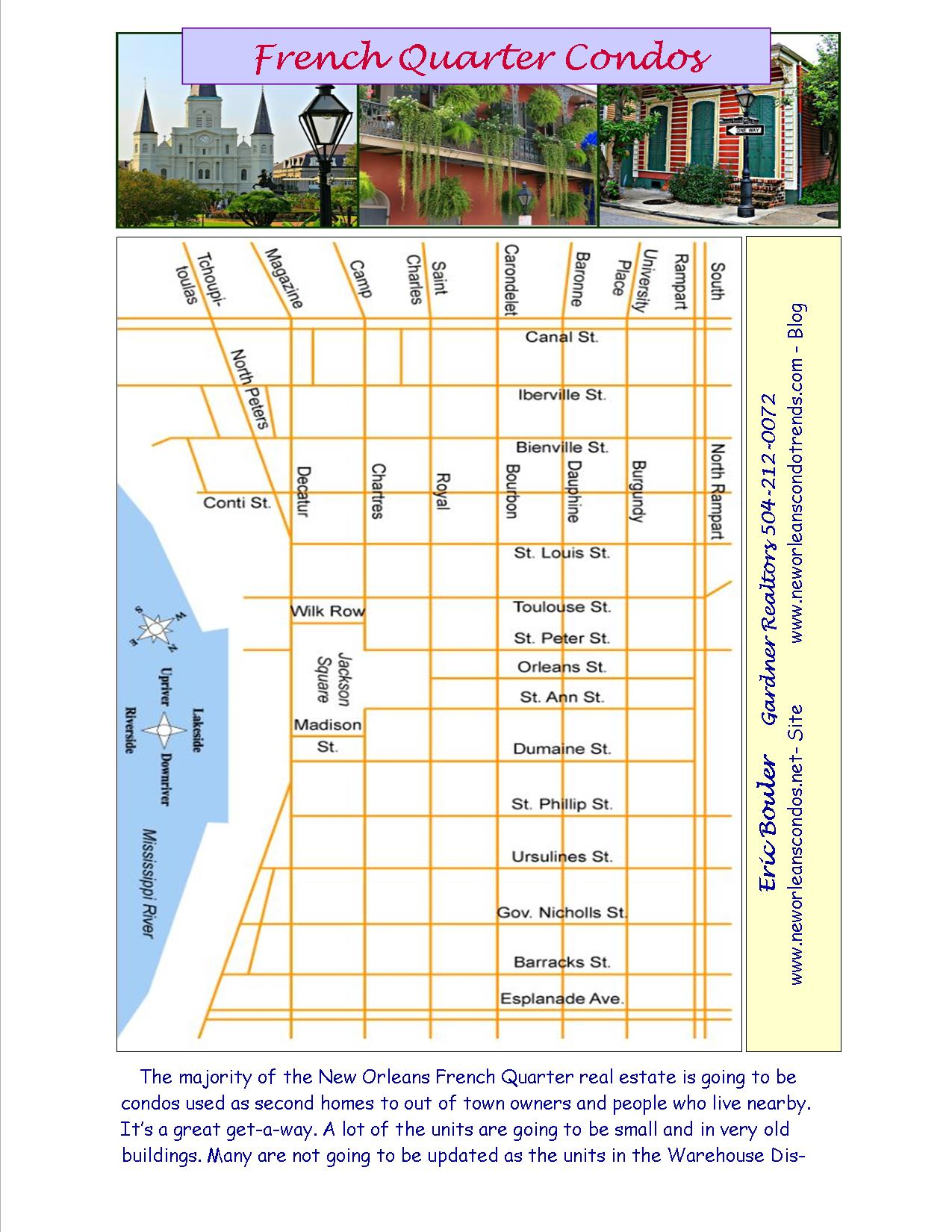 French Quarter Condos the Maps