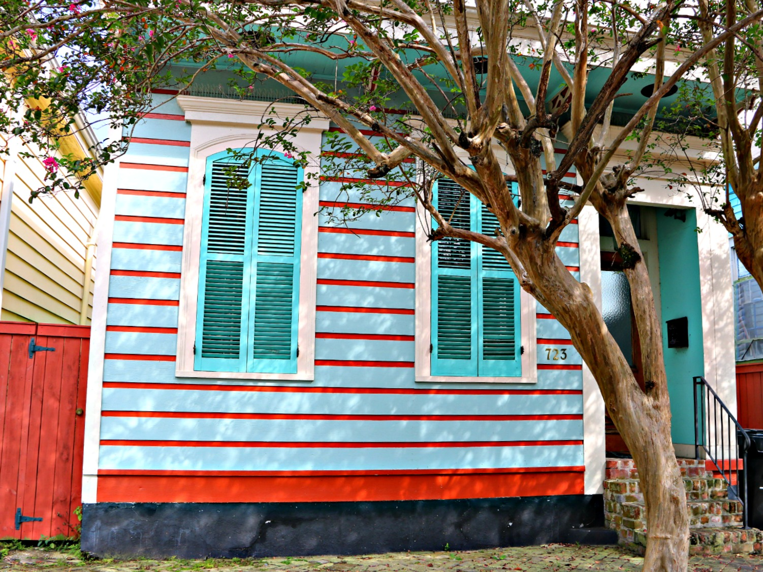 Bywater Real Estate. So many colorful homes in the Bywater of New Orleans