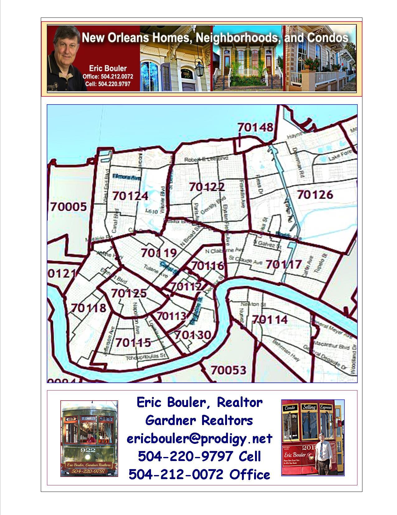 Map NOLA Zip Codes - Nola Neighborhoods Zip Code Map New Orleans on