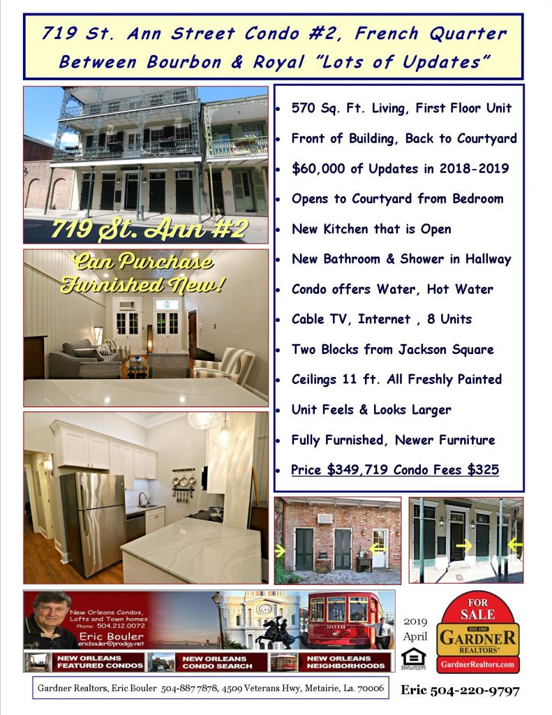 French Quarter Condo for Sale